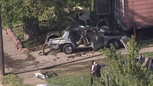 2 killed, 3 injured after crashing into home while fleeing police