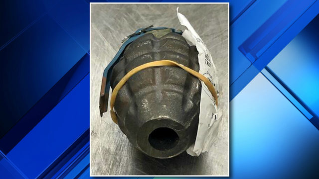 TSA confiscates grenade from Detroit Metropolitan Wayne County Airport passenger