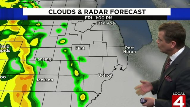 Metro Detroit weather: Rain and thundershower chances today