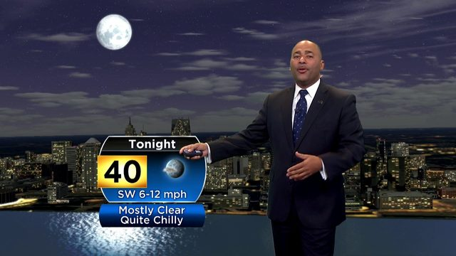 Metro Detroit weather: Quite chilly, mostly clear Saturday night