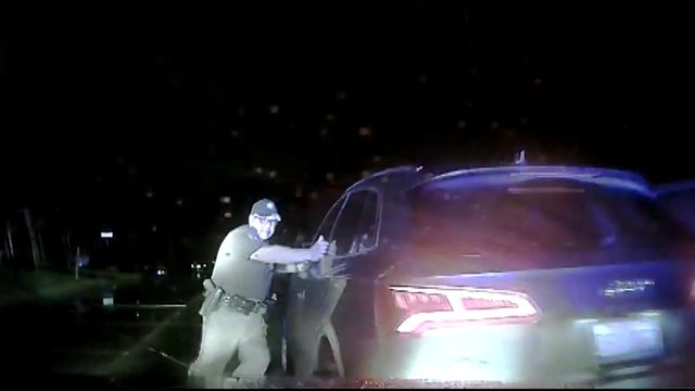 Dashcam video shows suspected drunken driver hitting patrol car after…