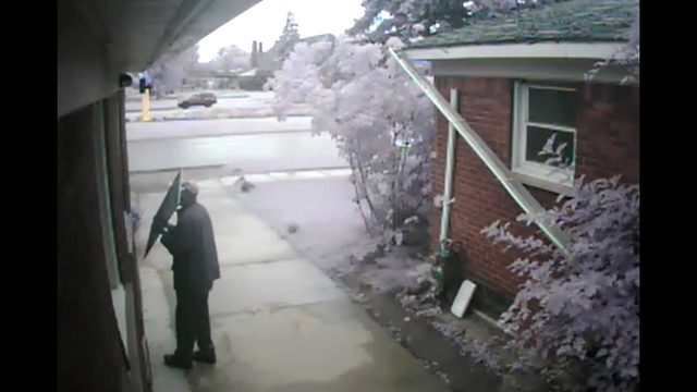 Detroit police seek man who broke into home through bathroom window