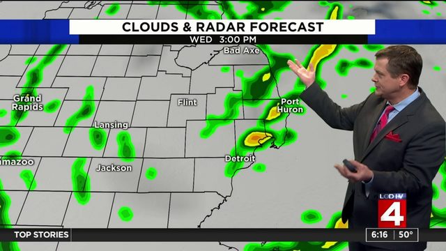 Weather forecast: Morning showers and wind across Metro Detroit