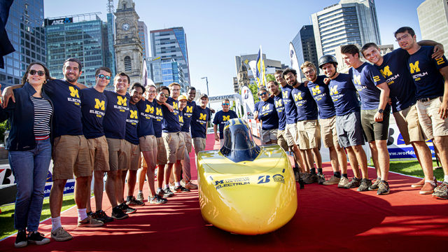 University of Michigan's Solar Car Team places third in global competition