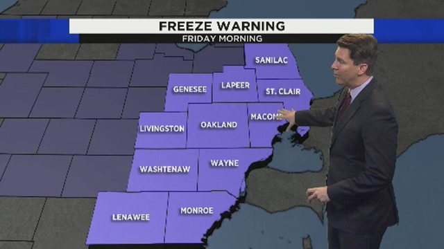 Metro Detroit weather: Temperatures dip below freezing overnight