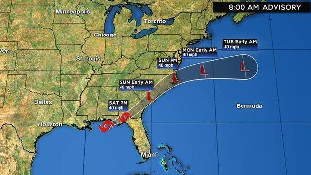 Tropical Storm Nestor forms, threatening US Gulf Coast