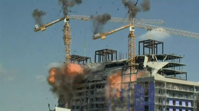 Cranes demolished after Hard Rock Hotel collapse in New Orleans