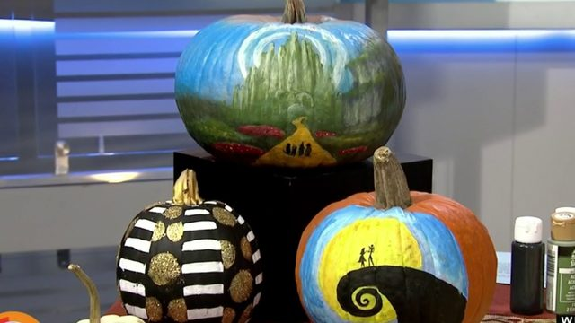 Slay your pumpkins without cutting them by pumping them up with paint